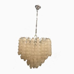 Mid-Century Bubble Murano Glass Chandelier, 1970s