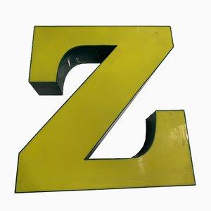 Vintage Metal Letter Z Sign