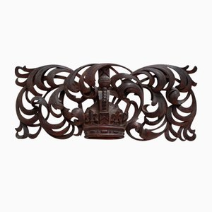 Antique Victorian Carved Overdoor Pediment