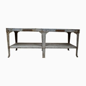 Vintage Enamel Butchers Wet Bench from Richmond's Warrington, 1920s