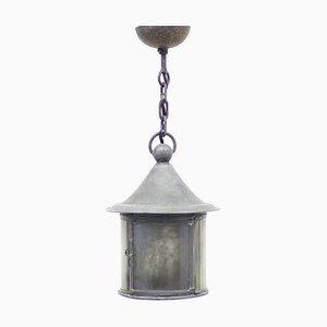 Lanterne Antique Arts and Crafts en Verre et Fer