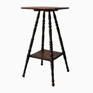 Deutscher Vintage Säulentisch aus Eiche, 1920er