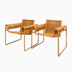 Wicker Armchair in the Style of Marcel Breuer, 1972
