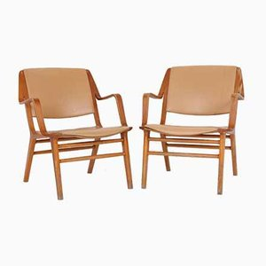 Mid-Century Lounge Chairs by Peter Hvidt & Orla Mølgaard-Nielsen for Fritz Hansen, Set of 2