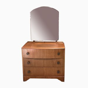 English Blond Oak Dressing Table, 1960s
