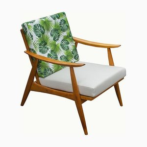 Beige and Green Armchair, 1960s