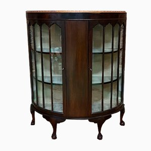 English Mahogany Display Cabinet, 1930s