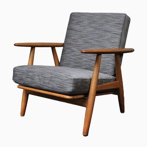 Model GE240 Cigar Lounge Chair by Hans J. Wegner for Getama, 1950s