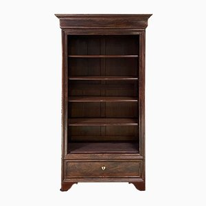 19th Century Louis Philippe Mahogany Open Bookcase