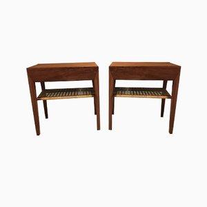 Tables de Chevet en Teck par Severin Hansen pour Haslev Møbelsnedkeri, 1960s, Set de 2