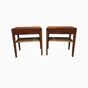 Teak Nightstands by Severin Hansen for Haslev Møbelsnedkeri, 1960s, Set of 2