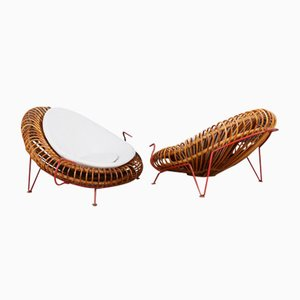 Mid-Century Bamboo Armchairs by Janine Abraham & Dirk Jan Rol, 1950s, Set of 2