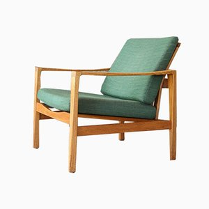 Mid-Century Oak Lounge Chair from Wilkhahn, 1960s