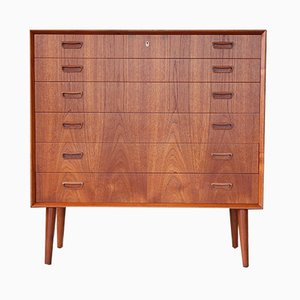 Mid-Century Danish Teak Chest of Drawers by Johannes Sorth for Bornholm, 1960s