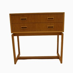 Mid-Century Swedish Beech Chest of Drawers