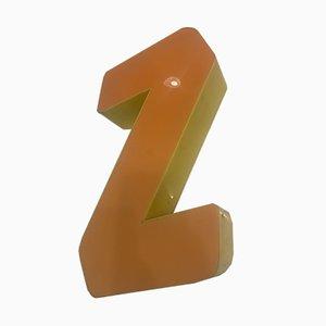 Vintage Plexiglas Letter Z Sign