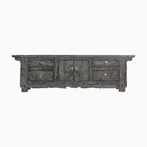Antique Gray Lacquered Sideboard