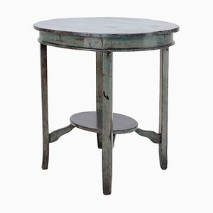 Oval Blue Side Table, 1920s