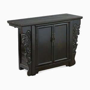 Antique Chinese Sideboard with Dragon Carvings