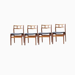 Mid-Century Teak Dining Chairs, 1960s, Set of 4