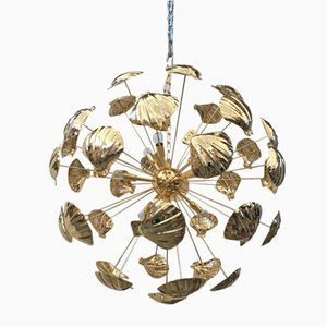 Lámpara de araña Sputnik 24k dorada de Italian Light Design
