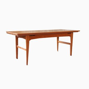 Mid-Century Teak Dining and Coffee Table from Niels Bach, 1960s