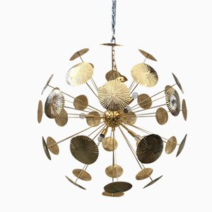 Gold 2-Colored Sputnik Chandelier from Italian Light Design