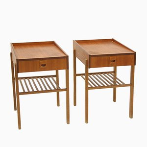 Swedish Bedside Tables, 1960s, Set of 2