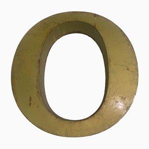 Vintage Metal Letter O Sign