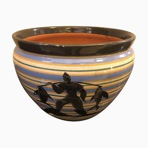 Art Deco Italian Ceramic Vase, 1930s