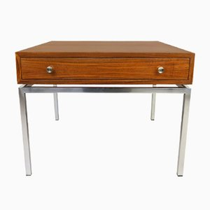 German Walnut Side Table with Drawer from Wilhelm Renz, 1960s