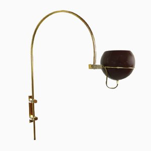 Dutch Adjustable Brass Sconce from Gepo Amsterdam, 1970s