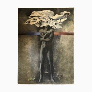 Metaphysisches Ölgemälde von Silvio Benedetto, 1970er