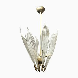 Mid-Century Brass and Murano Glass Pendant Lamp from La Murrina, 1970s