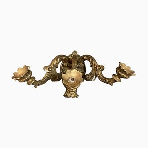 Large Giltwood Sconces, 1940s, Set of 3