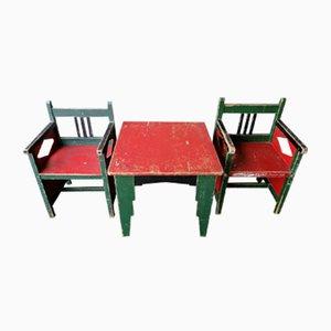Chaises pour Enfants par Egbert Reitsma, Pays-Bas, 1920s, Set de 3