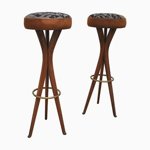 Mid-Century Stools by Osvaldo Borsani, 1950s, Set of 2