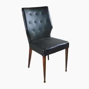 Italienische Esszimmerstühle aus Kunstgruenem Leder, 1960er, 8er Set