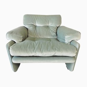 Velour Lounge Chair by Tobia & Afra Scarpa for B&B Italia / C&B Italia, 1960s