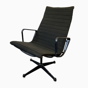 Mid-Century Alu Swivel Chair with High Backrest by Charles & Ray Eames for Herman Miller, 1958