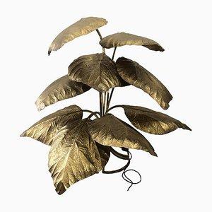 Lampada da terra a 9 foglie di Tommaso Barbi, anni '70