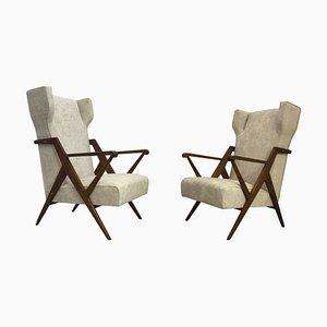 BBPR Lounge Chairs by Gianluigi Banfi, Lodovico Belgiojoso, Enrico Peressutti & Ernesto Nathan Rogers, 1950s, Set of 2