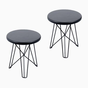 IJhorst Black Hairpin Side Tables by Constant Nieuwenhuys for 't Spectrum, 1950s, Set of 2