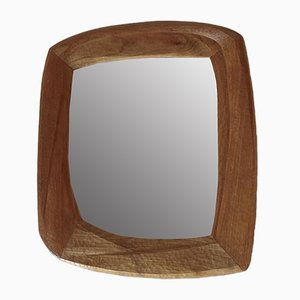 Anthroposophical Pearwood Wall Mirror, 1930s