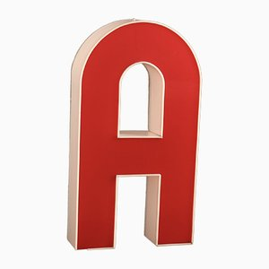 Mid-Century Illuminated Letter A Sign, 1960s
