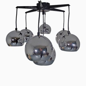 Space Age Chrome-Plated Ceiling Lamp, 1960s