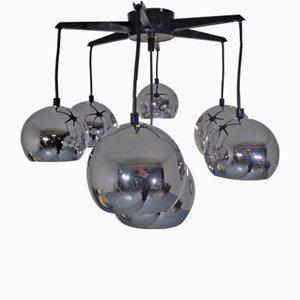 Verchromte Space Age Deckenlampe, 1960er
