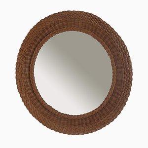 Specchio grande in vimini, Italia, anni '60