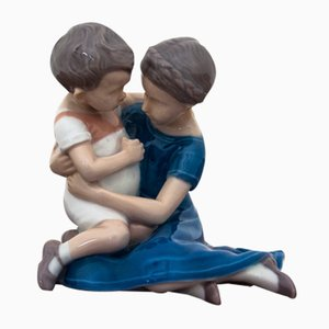Girl with Boy Figurine from Bing & Grondahl, 1950s