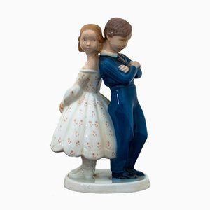 Girl with Boy Figurine from Bing & Grondahl, 1970s